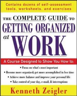 Getting Organized at Work de Kenneth Zeigler