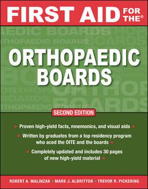 First Aid for the Orthopaedic Boards, Second Edition de Robert A. Malinzak