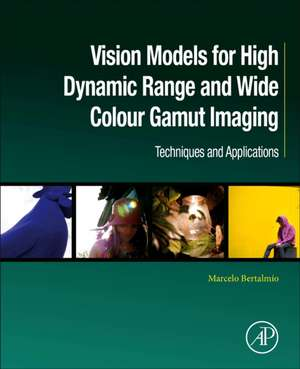 Vision Models for High Dynamic Range and Wide Colour Gamut Imaging: Techniques and Applications de Marcelo Bertalmío