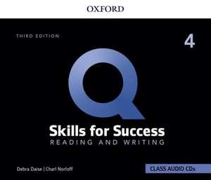 Q: Skills for Success: Level 4: Reading and Writing Audio CDs de Debra Daise