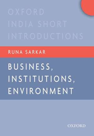 Business, Institutions, and the Environment