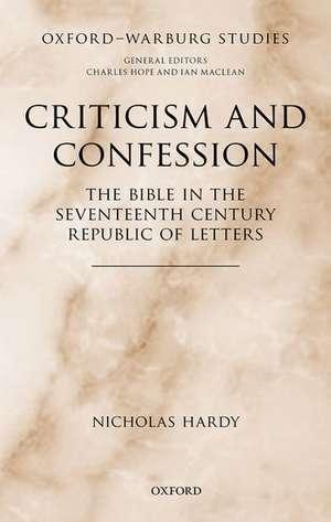 Criticism and Confession