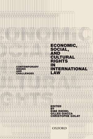 Economic, Social, and Cultural Rights in International Law: Contemporary Issues and Challenges de Eibe Riedel