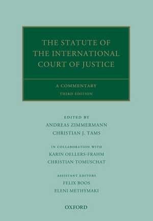 The Statute of the International Court of Justice: A Commentary de Andreas Zimmermann