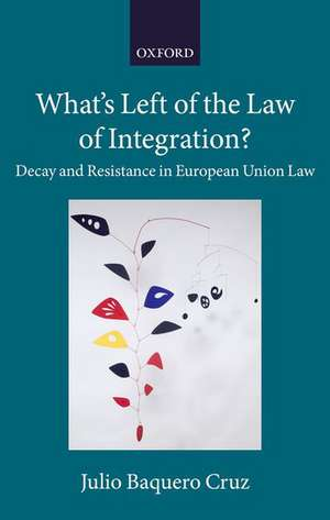 What's Left of the Law of Integration?: Decay and Resistance in European Union Law de Julio Baquero Cruz