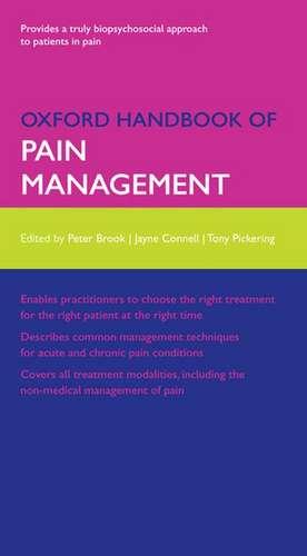 Oxford Handbook of Pain Management de Peter Brook