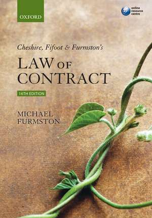 Cheshire, Fifoot and Furmston's Law of Contract de M P Furmston