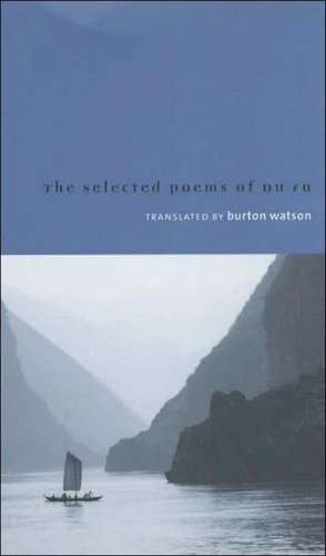 Selected Poems of Du Fu de Burton Watson