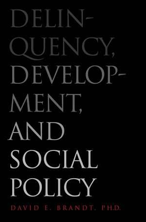 Delinquency, Development, and Social Policy de David E. Brandt