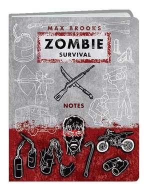 Zombie Survival Notes Mini Journal de Max Brooks