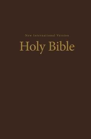 NIV, Value Pew and Worship Bible, Hardcover, Brown de Zondervan