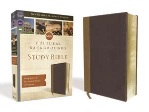 NRSV, Cultural Backgrounds Study Bible, Leathersoft, Tan/Brown, Comfort Print: Bringing to Life the Ancient World of Scripture de Craig S. Keener
