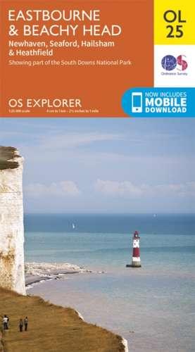 Eastbourne & Beachy Head, Newhaven, Seaford, Hailsham & Heathfield de  Ordnance Survey