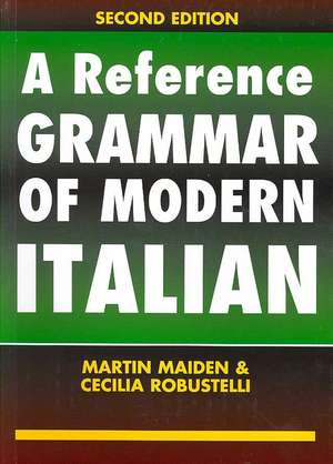 A Reference Grammar of Modern Italian imagine