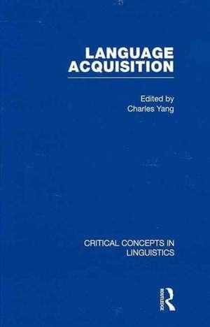 Language Acquisition de Charles Yang