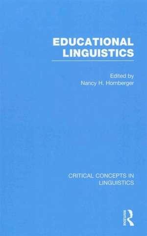 Educational Linguistics de Nancy H. Professor Hornberger