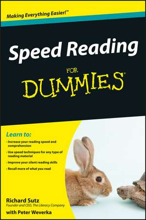 Speed Reading For Dummies de Richard Sutz