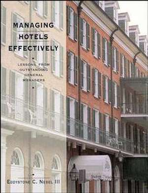 Managing Hotels Effectively