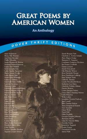 Great Poems by American Women:  An Anthology de Dover Thrift Editions