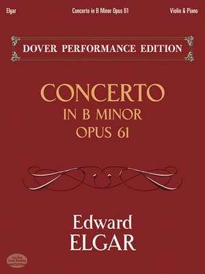Concerto in B Minor Op. 61:  With Separate Violin Part de Edward Elgar