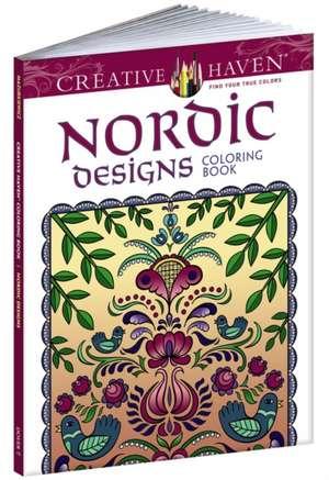 Creative Haven:  Nordic Designs Coloring Book de  Dover