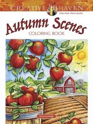 Creative Haven Autumn Scenes Coloring Book de Teresa Goodridge