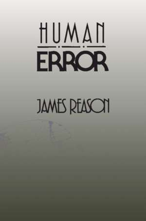 Human Error de James Reason