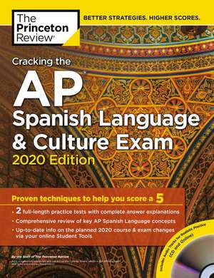 Cracking the AP Spanish Language and Culture Exam with Audio CD de Princeton Review