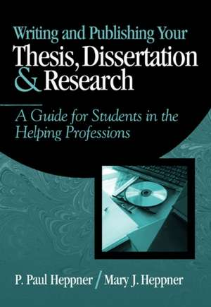 Writing and Publishing Your Thesis, Dissertation, and Research imagine