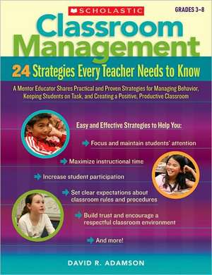Classroom Management, Grades 3-8