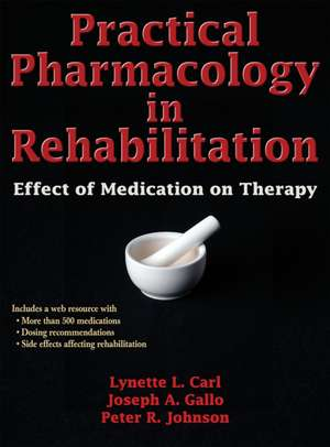 Practical Pharmacology in Rehabilitation with Web Resource imagine