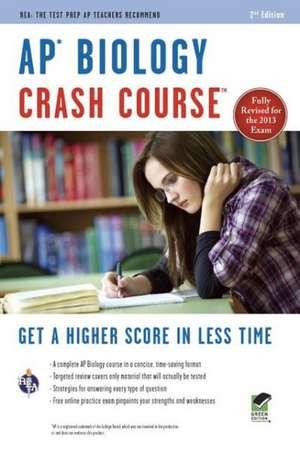 AP Biology Crash Course de Michael D'Alessio