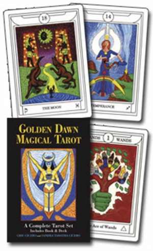 Golden Dawn Magical Tarot [With Cards and Paperback Book] de Chic Cicero