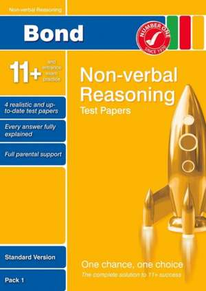 Bond 11+ Test Papers Non-Verbal Reasoning Standard Pack 1