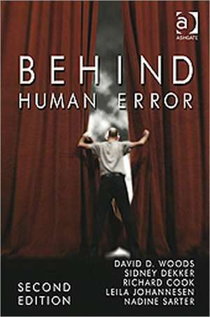 Behind Human Error de David D. Woods