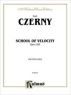 School of Velocity, Op. 299:  Complete de Carl Czerny