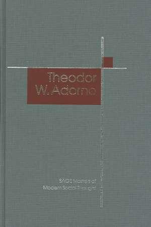 Theodor W. Adorno de Gerard Delanty
