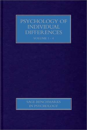 Psychology of Individual Differences de Gregory J Boyle