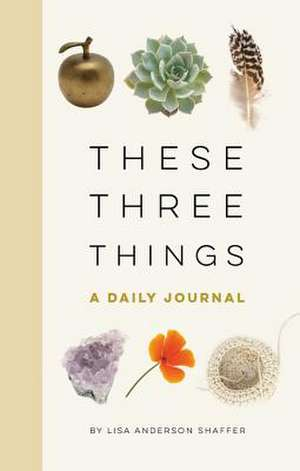 These Three Things: A Daily Journal de Lisa Anderson Shaffer