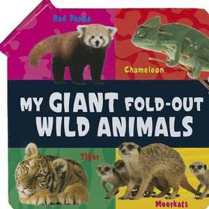 My Giant Fold-Out Wild Animals de Barron's