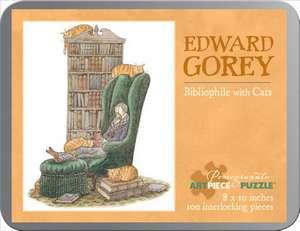 Edward Gorey/bibliophile With Cat 100 Piece Tin Pu