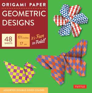 "Origami Paper - Geometric Prints - 6 3/4"" - 49 Sheets: Tuttle Origami Paper: High-Quality Origami Sheets Printed with 6 Different Patterns: Instructions for 6 Projects Included de Tuttle Publishing"