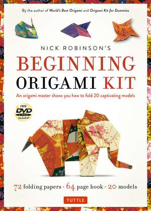 Nick Robinson's Beginning Origami Kit imagine