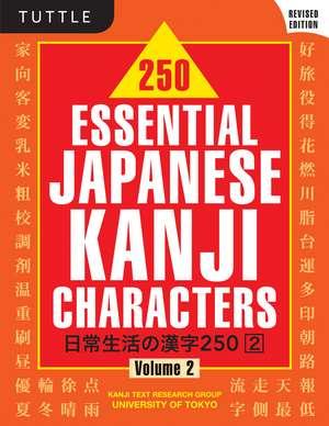 250 Essential Japanese Kanji Characters Volume 2 imagine