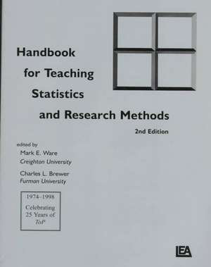 Handbook for Teaching Statistics and Research Methods