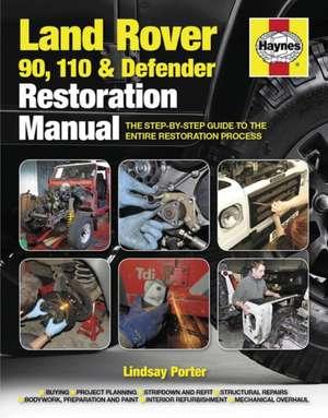 Haynes Land Rover 90, 110 & Defender Restoration Manual:  The Step-By-Step Guide to the Entire Restoration Process de Lindsay Porter
