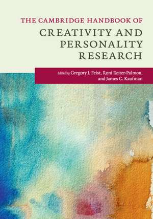 The Cambridge Handbook of Creativity and Personality Research de Gregory J. Feist