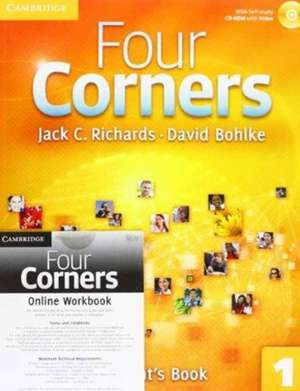 Four Corners Level 1 Student's Book with Self-study CD-ROM and Online Workbook Pack de Jack C. Richards
