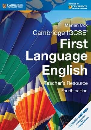 Cambridge IGCSE First Language English Teacher's Resource de Marian Cox