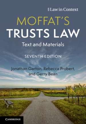 Moffat's Trusts Law: Text and Materials de Jonathan Garton